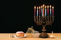 Image of jewish holiday Hanukkah background.  royalty free stock photo