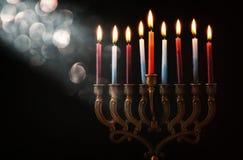 Image of jewish holiday Hanukkah background.  stock photography