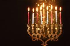Image of jewish holiday Hanukkah background.  stock image