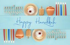 Image of jewish holiday Hanukkah background.  royalty free stock image
