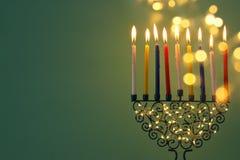 Image of jewish holiday Hanukkah background royalty free stock image