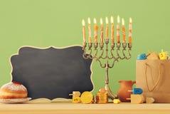 Image of jewish holiday Hanukkah background with menorah & x28;traditional candelabra. Image of jewish holiday Hanukkah background with menorah & x28 stock photo