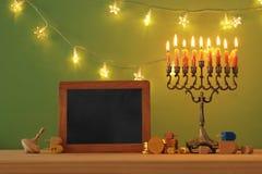 Image of jewish holiday Hanukkah background with menorah & x28;traditional candelabra. Image of jewish holiday Hanukkah background with menorah & x28 royalty free stock image