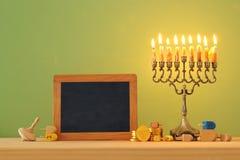 Image of jewish holiday Hanukkah background with menorah & x28;traditional candelabra. Image of jewish holiday Hanukkah background with menorah & x28 royalty free stock photo