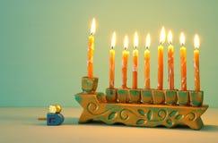 Image of jewish holiday Hanukkah background with menorah & x28;traditional candelabra. Image of jewish holiday Hanukkah background with menorah & x28 stock images