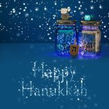 Image of jewish holiday Hanukkah with dreidels colection & x28;spinni. Ng top& x29 royalty free stock images