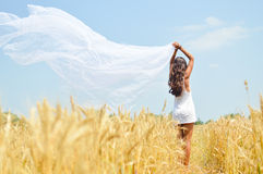 Image of joyful romantic beautiful young lady Royalty Free Stock Images