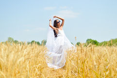 Image of joyful romantic beautiful young lady on Royalty Free Stock Image
