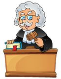 Image with judge theme 1 Stock Images