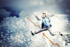 Image of jumping businessman Royalty Free Stock Photo