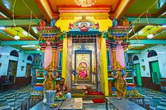 The Image of Kali in Sri Kaali Amman Hindu Temple, Yangon, Myanmar stock photos