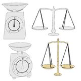 Image of kitchen scales Royalty Free Stock Image