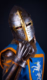 Image of knight. Studio shot of powerful knight Stock Photos