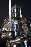 Image of knight. In metal armor Royalty Free Stock Photo