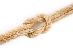 Image of knot on white background closeup Royalty Free Stock Image