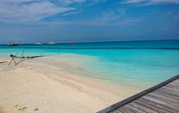 Image of Kuramathi, Maldives beach Island royalty free stock photo
