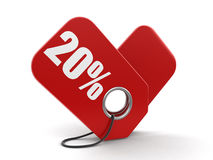 Image of Label 20% Royalty Free Stock Photos