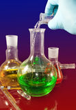 Image of laboratory flasks close up Royalty Free Stock Photography