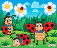 Image with ladybug theme 2 Royalty Free Stock Photos