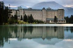 Fairmont Hotel at Lake Louise royalty free stock images