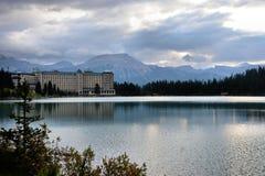 Fairmont Hotel at Lake Louise royalty free stock photos