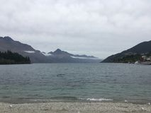 Scenic Queenstown Lake New Zealand Royalty Free Stock Photo