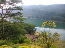 This image is lake of sri lanka. This image is real beautiful lake of sri lanka at kothmale royalty free stock photography