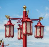 Image of a lamppost Chinese royalty free stock images
