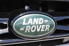 An image of a Land Rover Logo - Bielefeld/Germany - 07/23/2017 stock photography