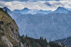 Landscape Tannheimer Tal Austria. Image landscape of the Tannheimer Tal in Austria, Europe Royalty Free Stock Photography