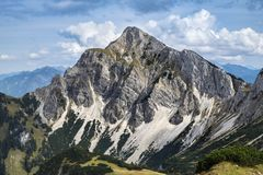 Landscape Tannheimer Tal Austria. Image landscape of the Tannheimer Tal in Austria, Europe Royalty Free Stock Photos