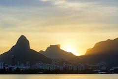 Image of the late afternoon at Lagoa Rodrigo de Freitas Royalty Free Stock Photos
