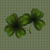 Image of leaf clover. Translucent. Background in the cell in the Irish style. illustration. Image of leaf clover. Translucent. Background in the cell in the Stock Images