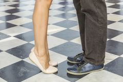 Couple`s Legs Royalty Free Stock Photos