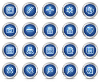 Image library web icons Royalty Free Stock Images