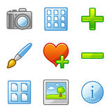 Image library web icons Royalty Free Stock Photo
