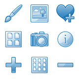 Image library web icons Royalty Free Stock Photography