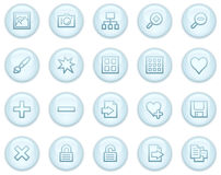Image library web icons Stock Photo