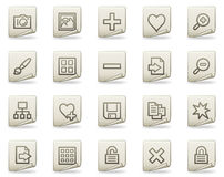 Image library web icons, document series Royalty Free Stock Photography