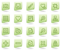 Image library web icons, green document series Royalty Free Stock Images
