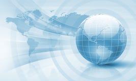 Image of light blue planet Earth vector illustration
