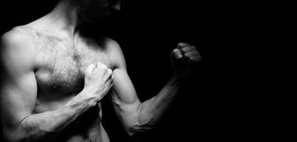 Image of lightweight fighter Stock Photography
