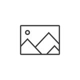 image line icon, picture outline  logo illustration, linea Royalty Free Stock Photo