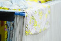 Linen on the dryer. Image of a Linen on the dryer royalty free stock images