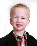 Image of a little boy on white Stock Photography