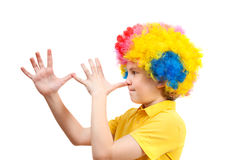 Image of the little clown boy Royalty Free Stock Photos