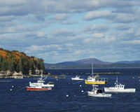 Bar Harbor Boats Stock Photos