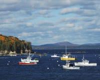 Bar Harbor Boats Stock Photos