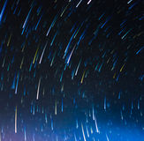 Image of Long exposure star trails. Stock Photography