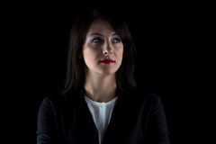 Image looking away brunette business woman Royalty Free Stock Image